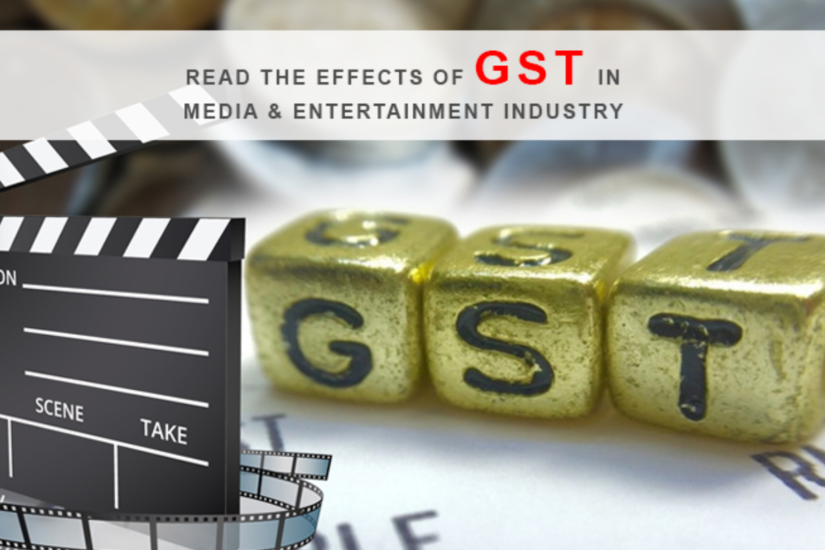 The Featured Image Which Depicts the GST For Media And Entertainment Industry